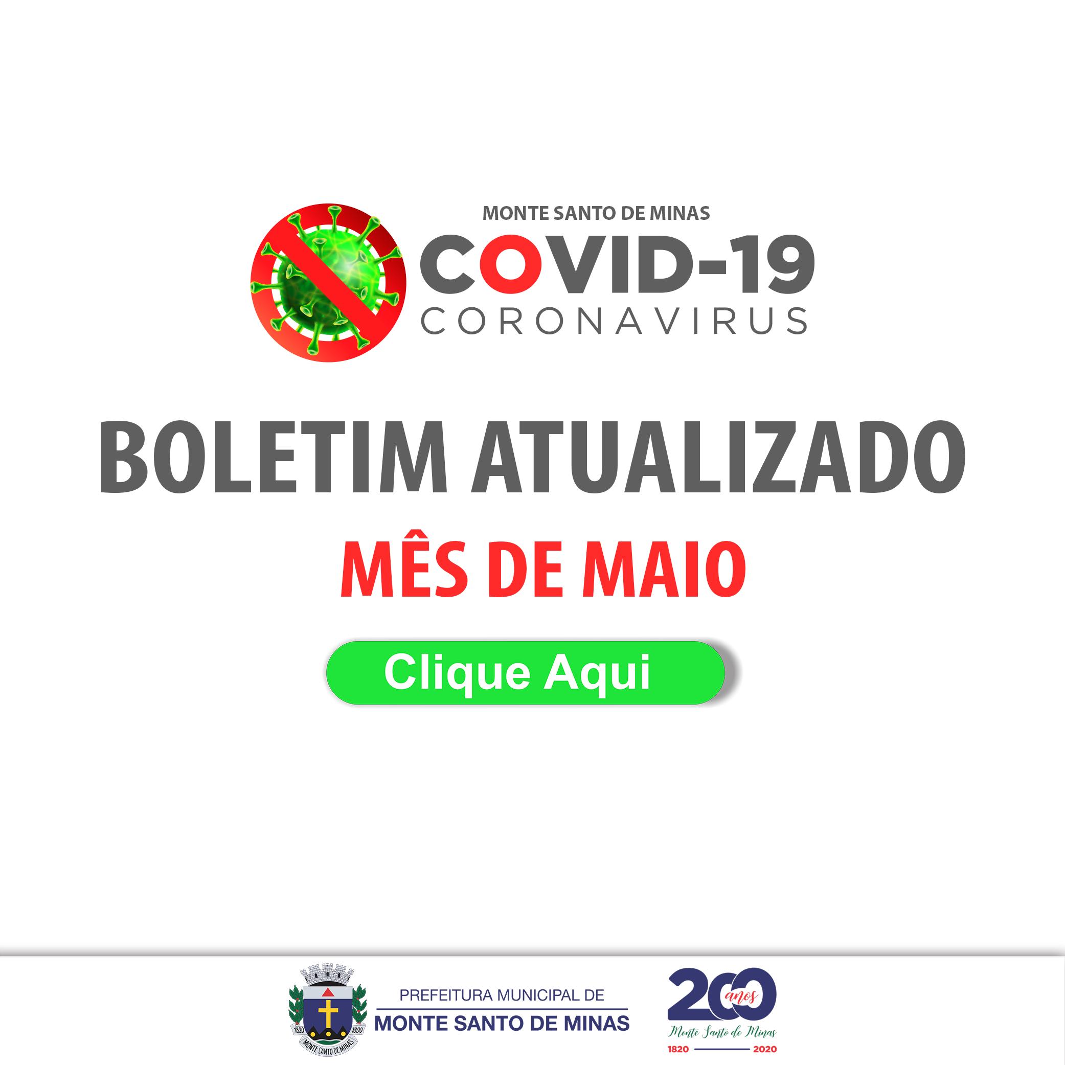 Boletim COVID-19 por mês – 2020
