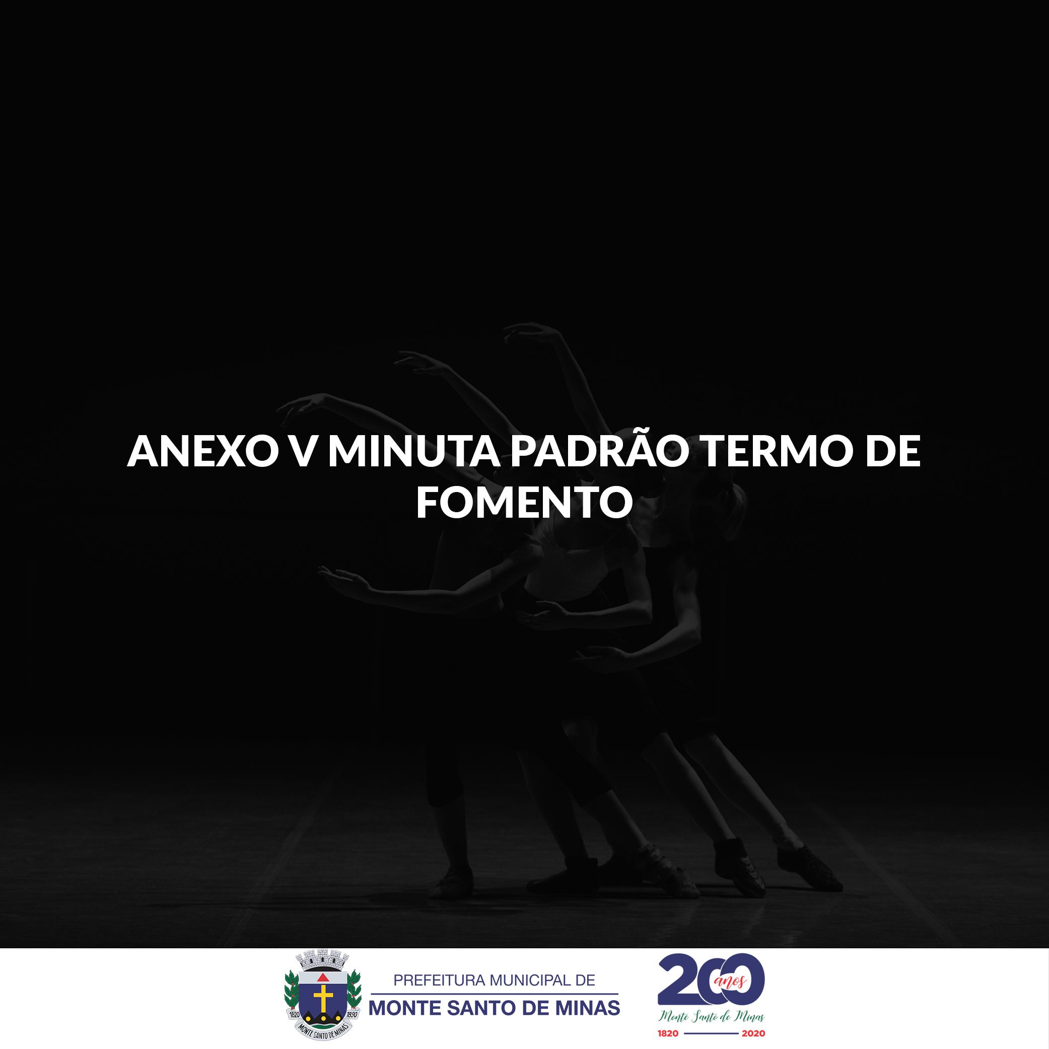 ANEXO V – MINUTA PADRÃO DO TERMO DE FOMENTO