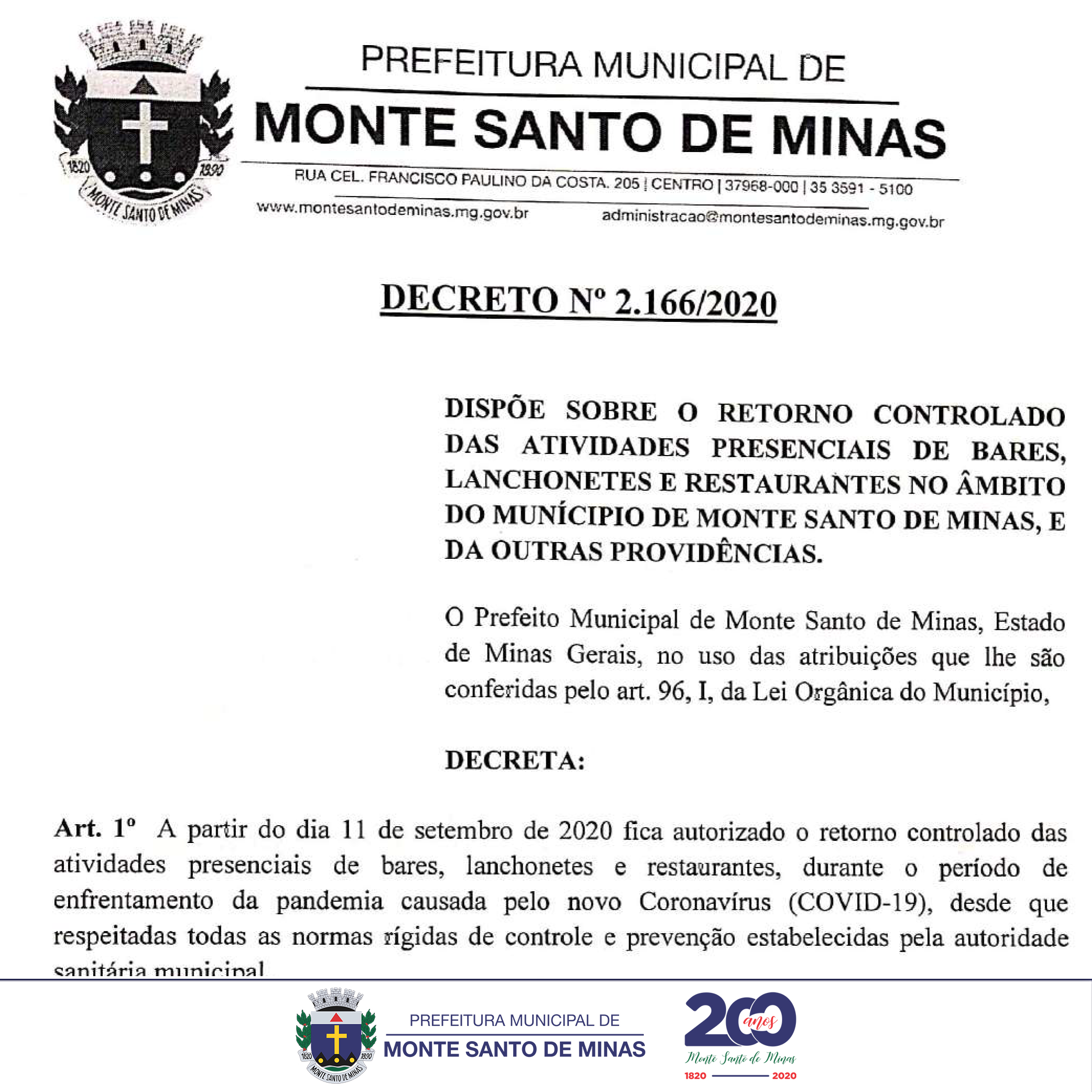 DECRETO - 2.166/2020