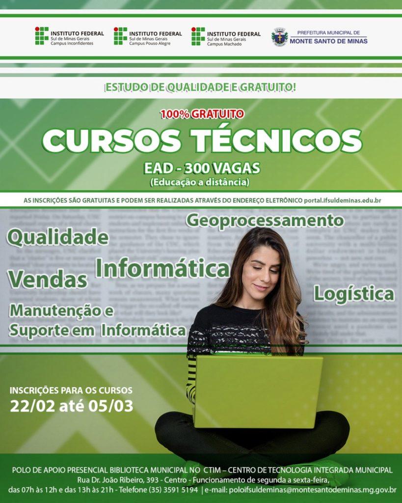 Cursos técnicos na modalidade subsequente IFSUL DE MINAS